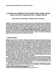 A Compact and Multiband Fractal-Inspired Planar Dipole Antenna ...