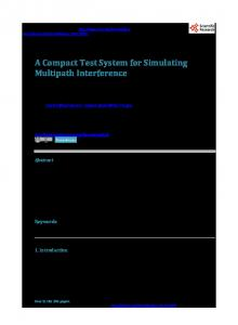 A Compact Test System for Simulating Multipath Interferencewww.researchgate.net › publication › fulltext › 27649619