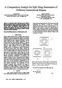 A Comparative Analyis for Split Ring Resonators of ... - IEEE Xplore