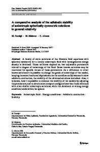 A comparative analysis of the adiabatic stability of ... - Springer Link