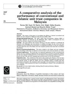 A comparative analysis of the performance of conventional and Islamic ...