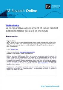 A comparative assessment of labor market nationalization policies in ...