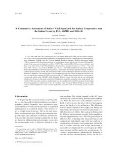 A Comparative Assessment of Surface Wind Speed ... - AMS Journals