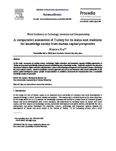 A comparative assessment of Turkey for its status and ...