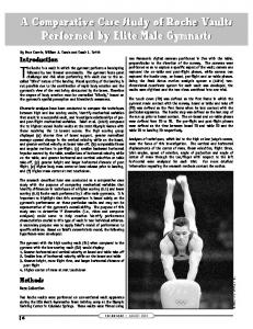 A Comparative Case Study of Roche Vaults ... - USA Gymnastics