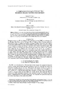 A COMPARATIVE EVALUATION OF TWO ROADSIDE ... - ScienceDirect