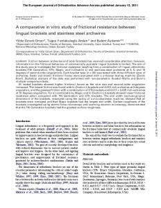A comparative in vitro study of frictional resistance
