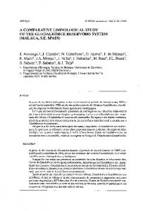 a comparative limnological study of the guadalhorce ... - CSIC Digital