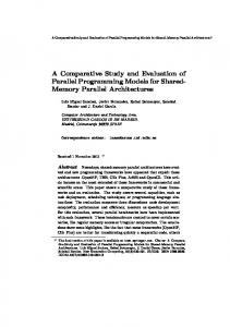 A Comparative Study and Evaluation of Parallel