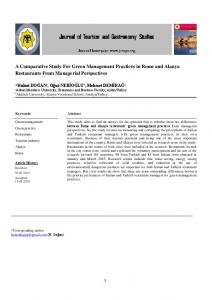 A Comparative Study For Green Management Practices in Rome - jotags