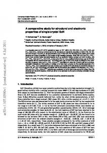 A comparative study for structural and electronic properties of single ...