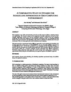 a comparative study in dynamic job scheduling approaches in grid ...
