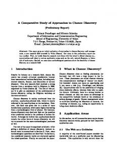 A Comparative Study of Approaches to Chance ... - Semantic Scholar
