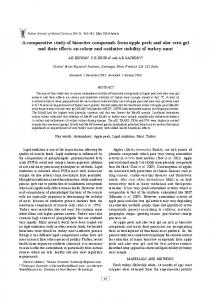 A comparative study of bioactive compounds from
