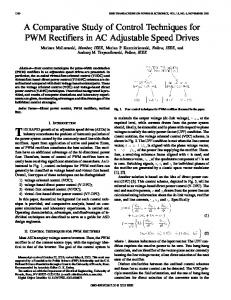 A comparative study of control techniques for PWM ... - IEEE Xplore