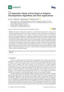 A Comparative Study of Four Kinds of Adaptive Decomposition
