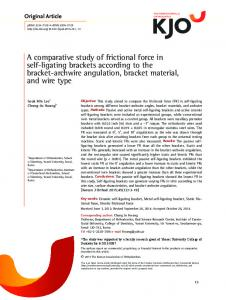 A comparative study of frictional force in self