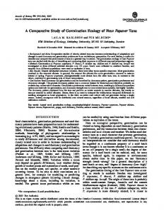 A Comparative Study of Germination Ecology of Four ... - BioMedSearch