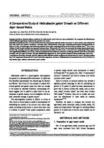 A Comparative Study of Helicobacter pylori ... - Synapse KoreaMed
