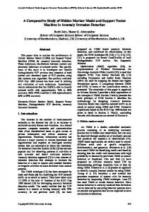 A Comparative Study of Hidden Markov Model and