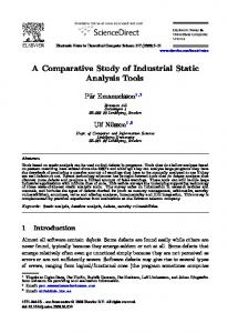 A Comparative Study of Industrial Static Analysis Tools