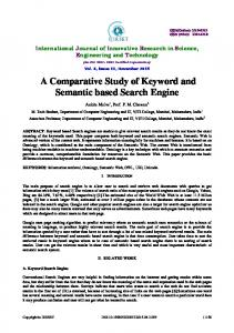 A Comparative Study of Keyword and Semantic based Search Engine