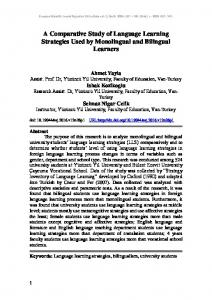 A Comparative Study of Language Learning Strategies Used by