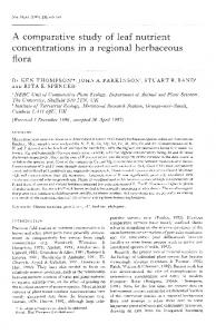 A comparative study of leaf nutrient ... - Wiley Online Library