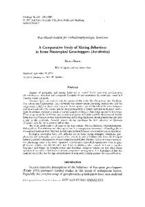 A Comparative Study of Mating Behaviour in ... - Wiley Online Library