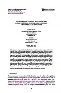A COMPARATIVE STUDY OF MOTIVATION AND ...