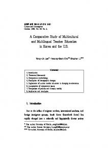 A Comparative Study of Multicultural and Multilingual