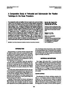 A Comparative Study of Pericostal and