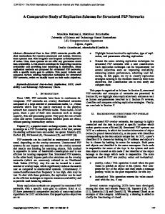 A Comparative Study of Replication Schemes for ... - CiteSeerX