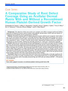A Comparative Study of Root Defect Coverage Using an Acellular ...