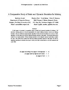 A Comparative Study of Static and Dynamic Heuristics for ... - CiteSeerX