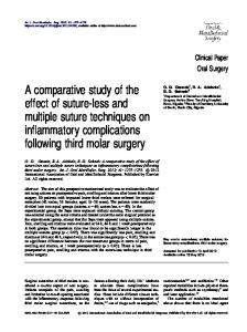 A comparative study of the effect of suture-less and multiple suture ...