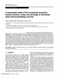 A comparative study of the mechanical properties