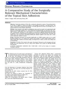 A Comparative Study of the Surgically Relevant ... - Wiley Online Library