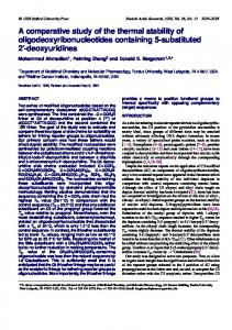A comparative study of the thermal stability of ... - NCBI
