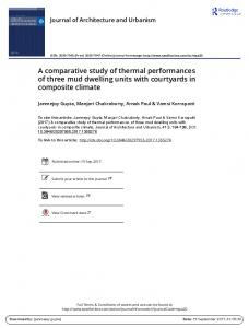 A comparative study of thermal performances of three ...