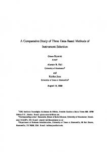 A Comparative Study of Three Data-Based Methods of Instrument ...