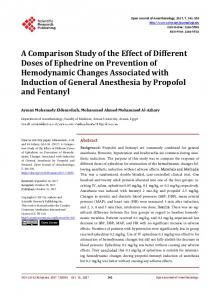 A Comparative Study of Uses of Ephedrine by Different Doses on ...