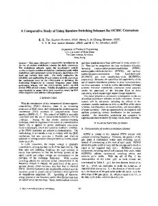 A Comparative Study Of Using Random Switching Schemes For DC ...