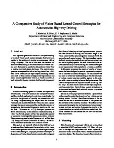 A Comparative Study of Vision-Based Lateral Control Strategies for ...