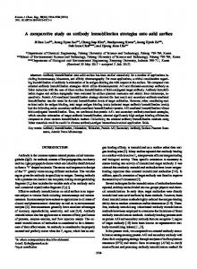 A comparative study on antibody immobilization ... - Springer Link