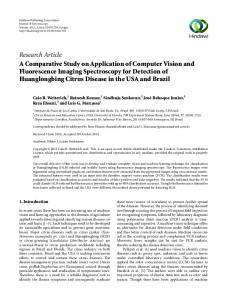 A Comparative Study on Application of Computer Vision and ...