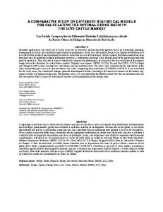 a comparative study on different statistical models for calculating the