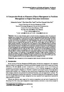 A Comparative Study on Elements of Space Management in ... - ipedr