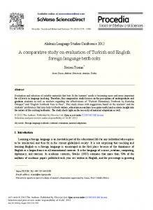 A Comparative Study on Evaluation of Turkish and ... - ScienceDirect