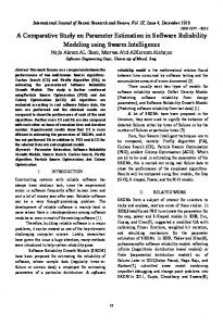A Comparative Study on Parameter Estimation in Software Reliability ...